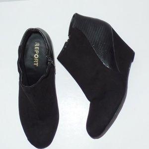 Report Gabee Black Wedge Ankle Bootie 6.5